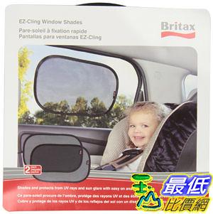 [美國直購] Britax 2 Pack EZ-Cling Sun Shades, Black汽車窗戶遮陽防曬防紫外線檔網 UPF 30+(二入裝)
