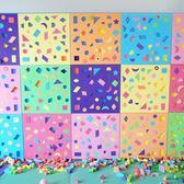 幼兒園墻面形狀配對EVA泡沫拼插益智區軟體積木3-6歲墻壁兒童玩具 WE1116『優童屋』