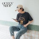 Queen Shop【01038395】趣味爆米花印花短T 兩色售*現+預*