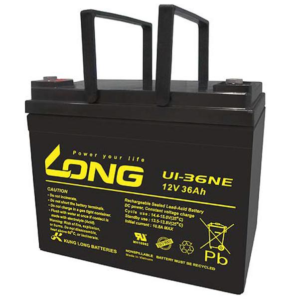 廣隆 LONG 12V 36Ah 電池 UI-36NE 代步車 電動車 鉛酸【康騏電動車】專業維修批發零售