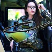 戶外運動戰術眼鏡自行車防風騎行釣魚護目鏡登山CS裝備墨鏡 萬聖節
