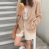 2021春秋新款韓版寬鬆薄款棉麻外套女小個子韓國復古網紅小西裝潮 夏季新品