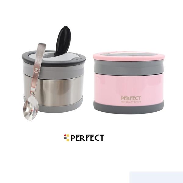 PERFECT極緻 316不銹鋼可提式保溫便當盒14cm(共兩色) 保鮮盒 飯盒 餐盒