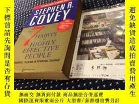 二手書博民逛書店英文原版罕見THE 7 HABITS OF HIGHLY EFFECTIVE PEOPLE 高效能人士的七個習慣