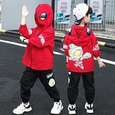 男童套裝 奧特曼衣服童裝男童套裝春秋裝2021新款帥洋氣中大兒童網紅時髦【快速出貨八折搶購】