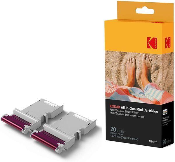 KODAK Mini 2 Photo Printer Cartridge MC-20 2x3吋相紙 20張 PM-220 P210 C210 可用