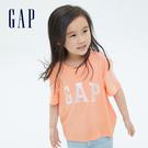 Gap女童 Logo純棉雙面亮片短袖T恤 701271-桃粉色