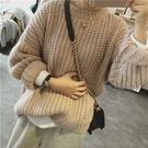 限時特銷 季年新款純色毛衣秋冬寬松套頭長袖針織衫外套女溫柔風上衣