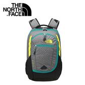 【The North Face 27L 15吋電腦背包 鋅灰/硫黃綠】 NF00CHJ8/電腦包/後背包