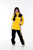 林森●M2R兩件式風雨衣,機車型,M-2,M2,黑黃