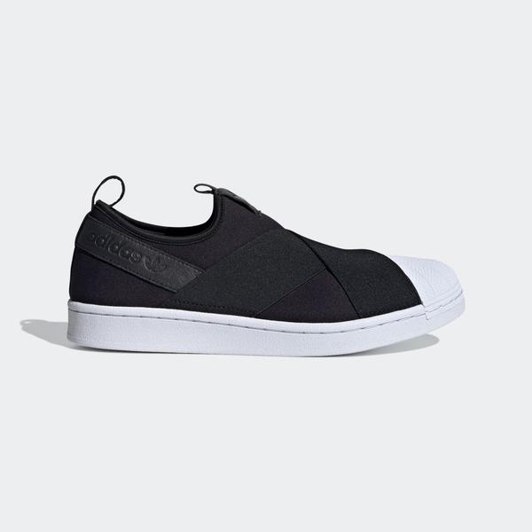 Adidas Superstar Slip On W [FW7051] 女鞋 運動 休閒 經典 貝殼 穿搭 愛迪達 黑白