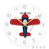 掛鐘 北歐卡通掛鐘兒童房個性掛錶創意圓鐘錶臥室石英鐘超靜音電子時鐘 夢幻衣都
