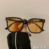 2021新款墨鏡女圓臉大臉顯瘦方形網紅韓版太陽眼鏡遮陽男防紫外線 晶彩
