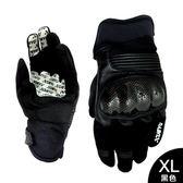 豹牌 拳眼立體碳纖防摔手套 XL-黑色CH-15