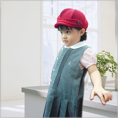 AJ Hippo 小河馬 幼兒報童帽 2-6歲 紅色