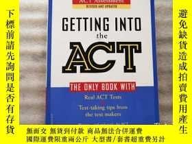 二手書博民逛書店GETTING罕見INTO ACT Official Guide to the ACT AssessmentY
