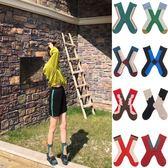 襪子夏季薄款 涼鞋襪子女中筒襪韓國個性條紋運動ins網紅長筒哇塞襪潮霓裳細軟