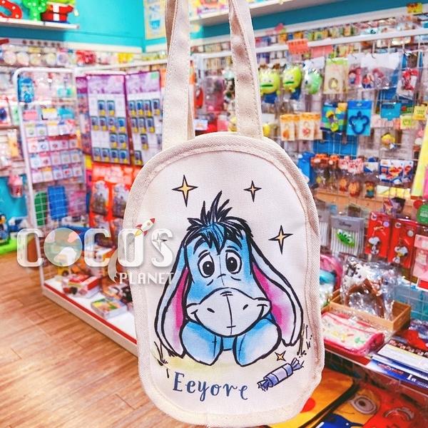正版 迪士尼 小熊維尼 維尼熊 帆布手提袋 飲料提袋 收納袋 購物袋 屹耳款 COCOS DK280