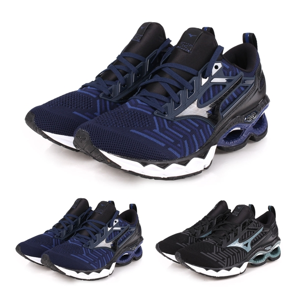 MIZUNO WAVE CREATION WAVEKNIT 男慢跑鞋(免運 路跑≡體院≡ J1GC1933
