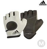 Adidas 女用短指彈性止滑手套(簡約灰)-M