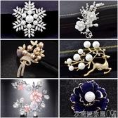 衣服配飾氣質花朵胸針女士配飾外套開衫胸花別針扣披肩絲巾仿珍珠個性韓國 聖誕交換禮物