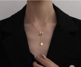 項錬輕奢時尚歐美范包K金色項鍊女韓版簡約潮個性毛衣鍊鎖骨鍊春季新品