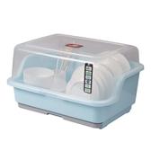 碗櫃 裝碗筷收納盒放碗瀝水架廚房收納箱帶蓋家用置物架塑料碗柜 莎拉嘿呦