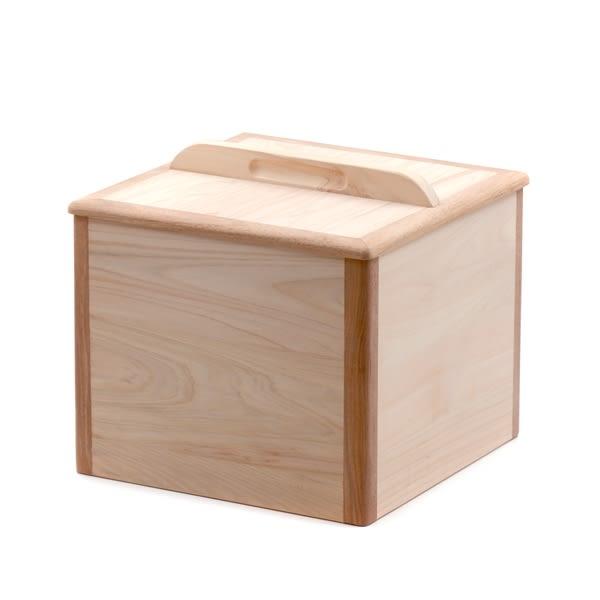 芬多森林 台灣檜木米箱5kg木蓋式,實木儲米桶會呼吸木製餐具,無漆無毒健康方式保存