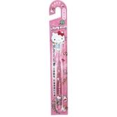 小禮堂 Hello Kitty 透明兒童牙刷 學童牙刷 3-6歲適用 (粉 物品) 5712977-16242