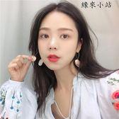 耳環韓國簡約氣質撞色耳釘