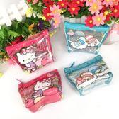 【金玉堂文具】三麗鷗凱蒂貓Hello kitty雙子星透明零錢包 收納包