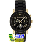 [美國代購] Michael Kors Women's MK5191 Chronograph Black Rubber Coated Gold-Tone Stainless Steel Watch