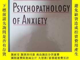 二手書博民逛書店The罕見Developmental Psychopathology of AnxietyY254376
