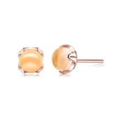 耳環 玫瑰金純銀 水晶-簡約百搭生日情人節禮物女飾品73dz52【時尚巴黎】