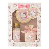 【震撼精品百貨】Hello Kitty 凱蒂貓~HELLO KITTY香氛保濕沐浴品禮盒3件組(百花香)#83941