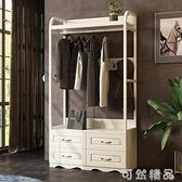 衣架落地客廳臥室內網紅房間衣帽置物掛衣架子家用簡易北歐鐵衣櫃 可然精品