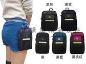 ~雪黛屋~SPORT 腰包可5.5吋手機穿過皮帶肩背斜側背隨身物品外掛固定防水尼龍布主袋+外袋S635