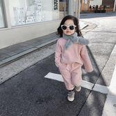 允兒媽女童軟糯仿兔毛保暖圍巾冬季新款韓版潮寶寶1-3歲兒童圍脖
