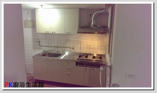 ❤PK廚浴生活館 實體店面❤ 高雄 廚房歐化系統櫥具 一字型上下櫥流理台 白鐵台面