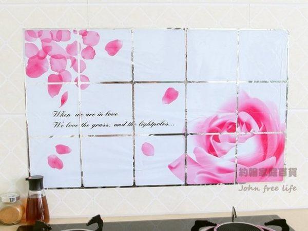 約翰家庭百貨》【AG290】鋁箔廚房牆壁防水防油貼 紙壁貼玻璃貼磁磚貼 可擦洗 隨機出貨