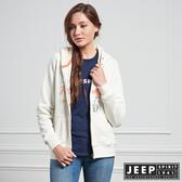 【JEEP】女裝 美式風格造型刺繡長袖外套 (象牙白)