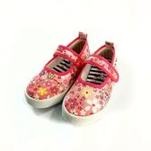 中童 滿版日本花 柔軟輕便鞋 休閒鞋 懶人鞋 《7+1童鞋》E245 粉色