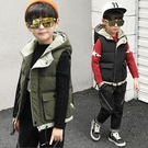 男童秋冬保暖背心外套 加厚款帥氣兒童外套