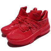 adidas 籃球鞋 D Lillard 3 J 全紅 Bounce中底 女鞋 大童鞋 明星款 【PUMP306】 BW0481