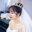 皇冠頭飾結婚婚紗大氣超仙