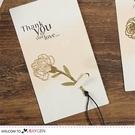 康乃馨書籤 鏤空雕花 金屬書籤 母親節