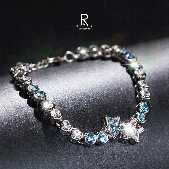 閃耀流星璀璨星座水晶手鍊