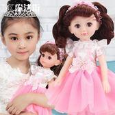 會說話的智能洋娃娃套裝兒童女孩玩具公主衣服超大關節娃 魔法街
