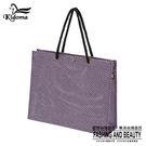 手提袋-編織袋(L)-粉紫黑-01C...