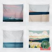 北歐背景布油畫風景臥室床頭客廳墻面裝飾掛布【福喜行】